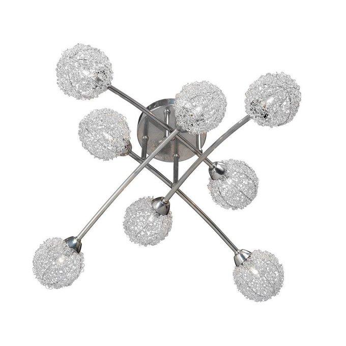 Потолочная люстра с металлическими плафонами