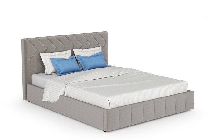 Кровать Милана 160х200 без подъемного механизма серого цвета