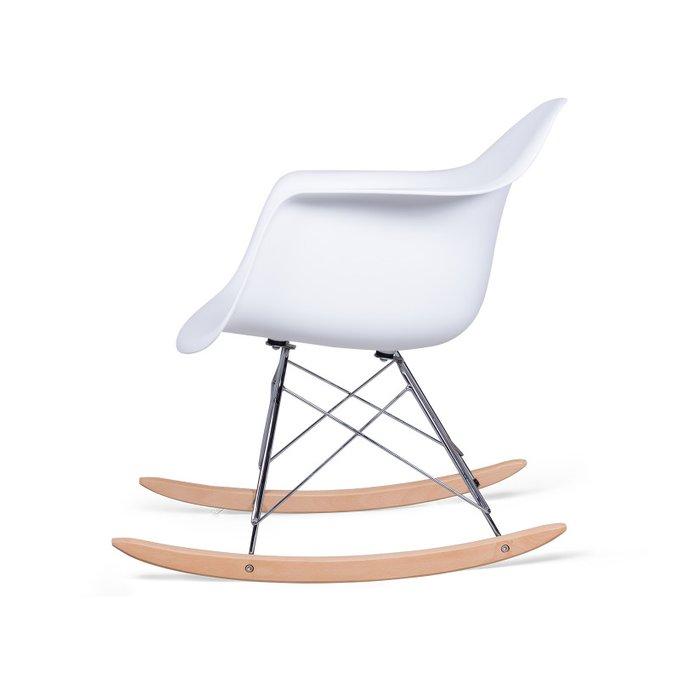 Стул-качалка Ravel Pompage белого цвета