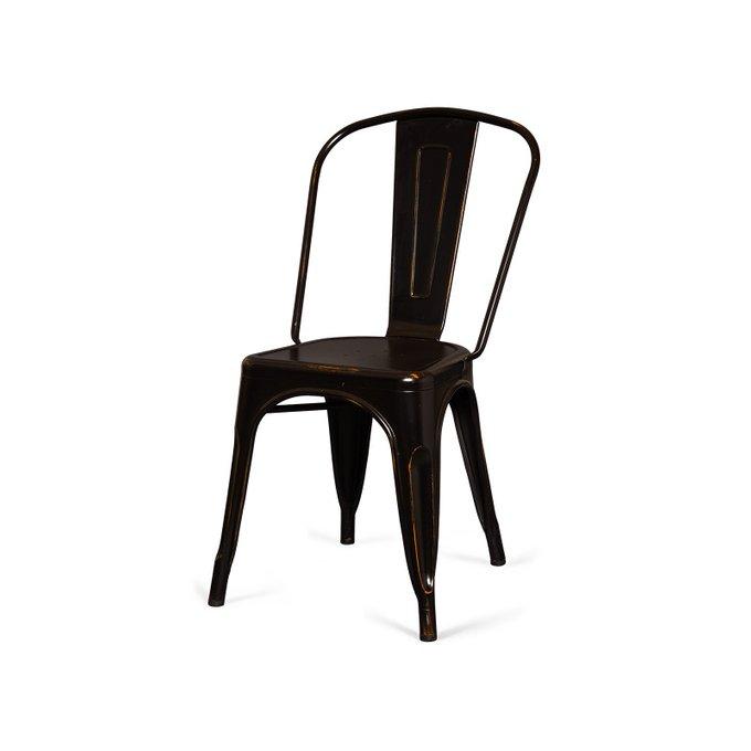 Стул Tolix Marais A черного цвета