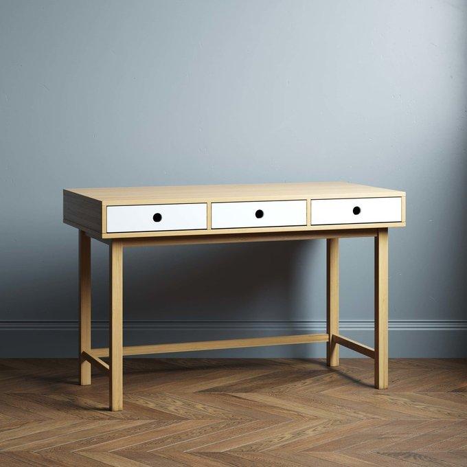 Письменный стол Marinas 160х80 с белыми ящиками