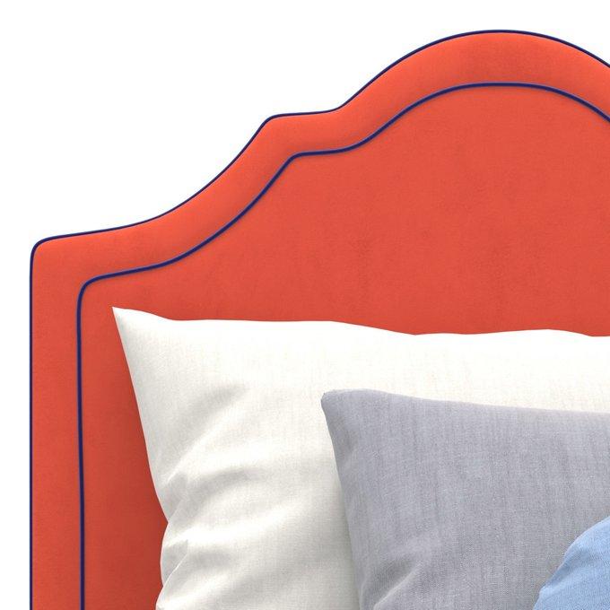 Односпальная кровать Kylie kids на ножках красного цвета 90х190