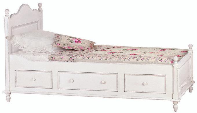 """Кровать с ящиками и низким изножьем """"Нордик"""" 120х190"""