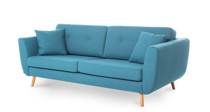 Прямой диван синего цвета FUNKIS