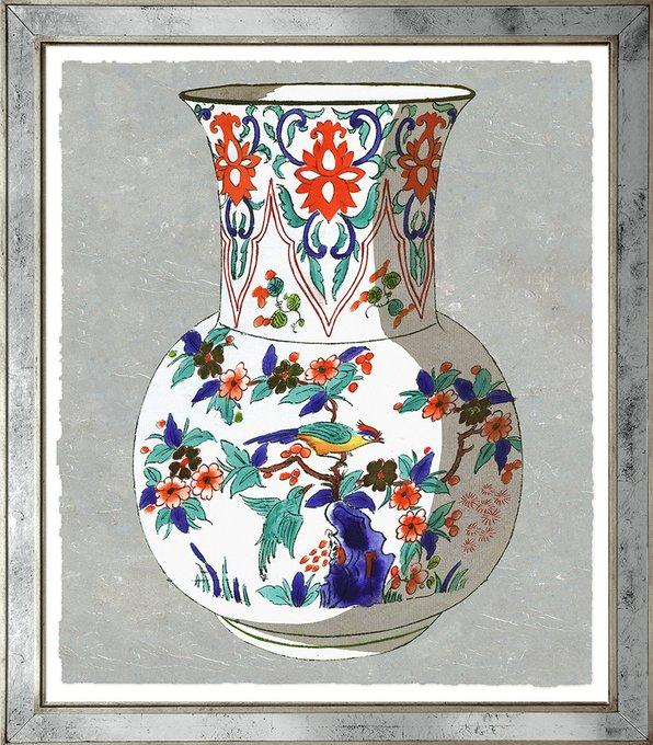 Репродукция изображения  Вазы Fourmaintraux в зеркальной раме