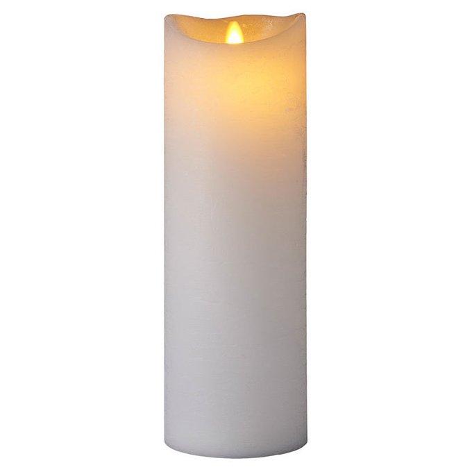 Светодиодная свеча с таймером Sara белого цвета