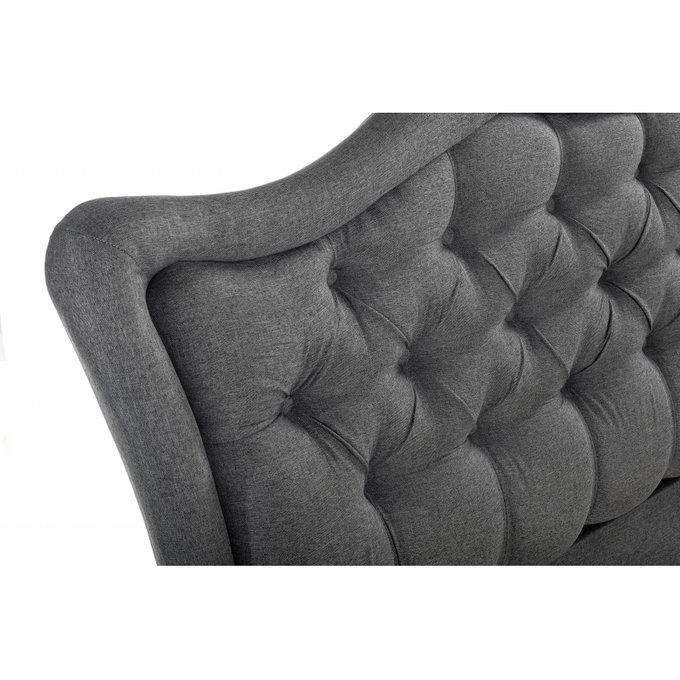 Кровать двуспальная Mabel 160х200 серого цвета