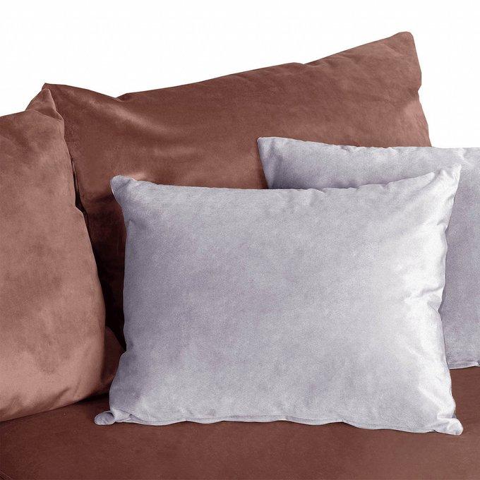 Угловой диван-кровать Мэдисон Лувр красного цвета большой