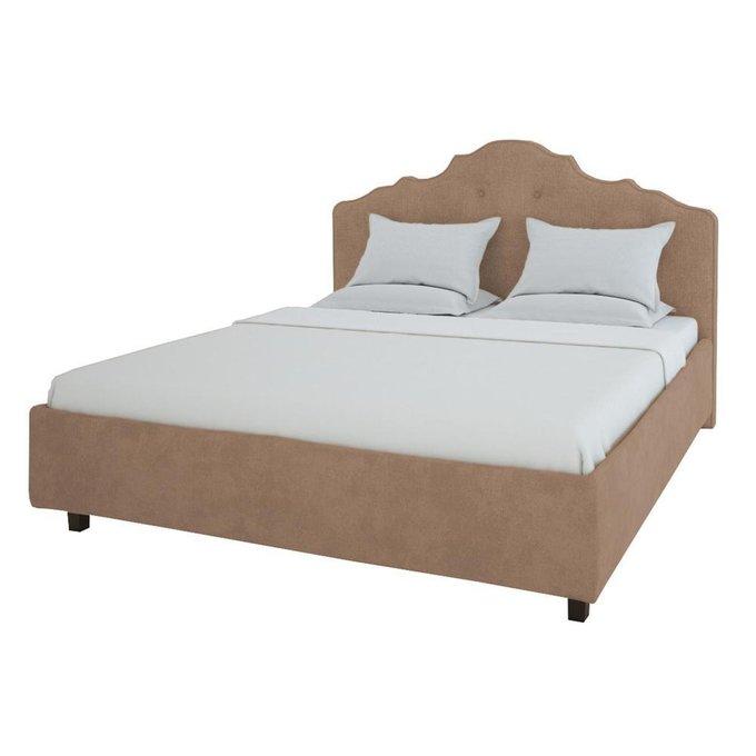 Кровать Palace Велюр Серо-коричневый 200x200