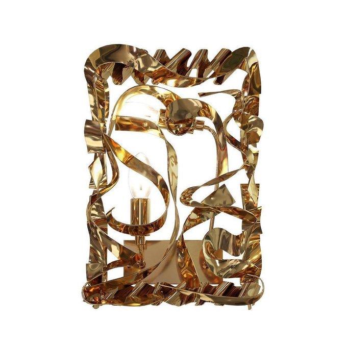 Настенный светильник Fabian из металла золотого цвета