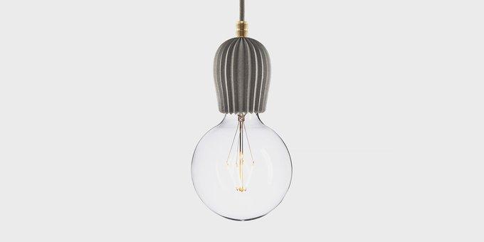 Подвесной светильник Beton Rib gray