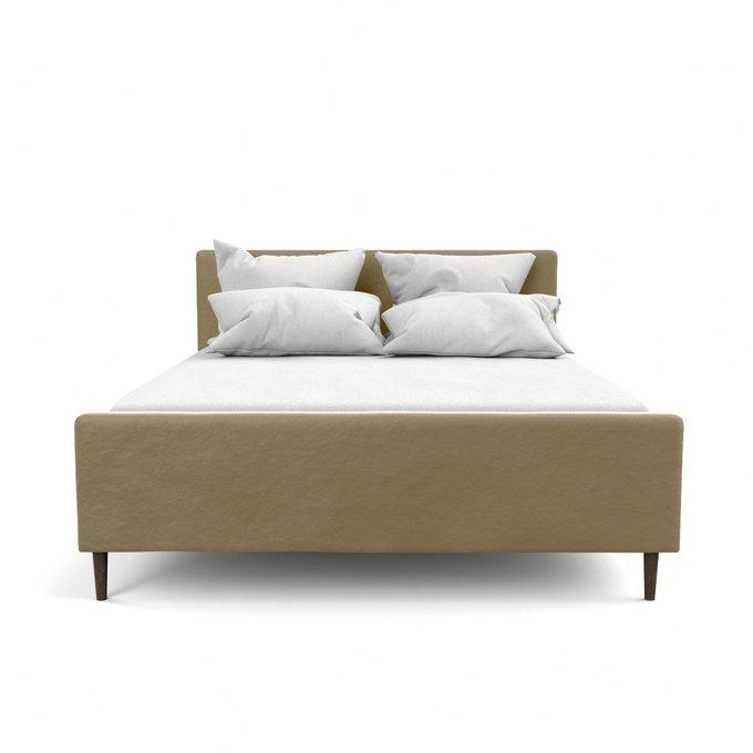 Двухспальная кровать Кристина бежевого цвета 140х200
