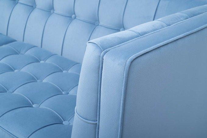Диван-кровать Palermo трехместный голубого цвета