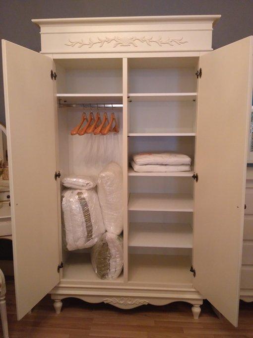 Шкаф двухстворчатый Снежный Прованс