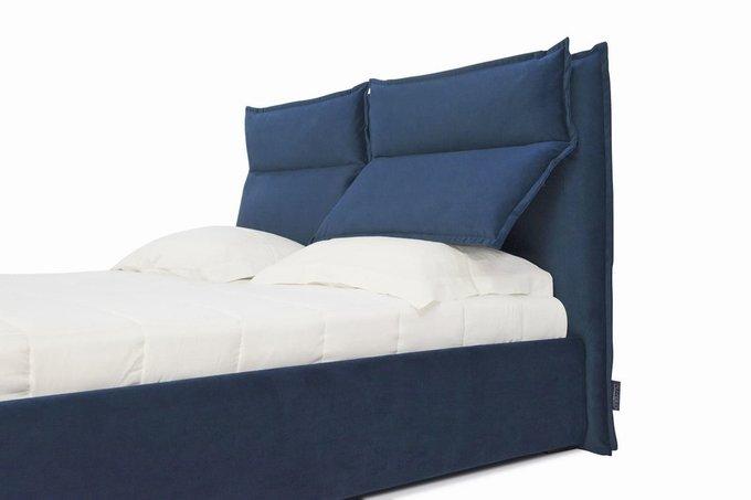 Кровать Wing с подъемным механизмом синего цвета 200х200