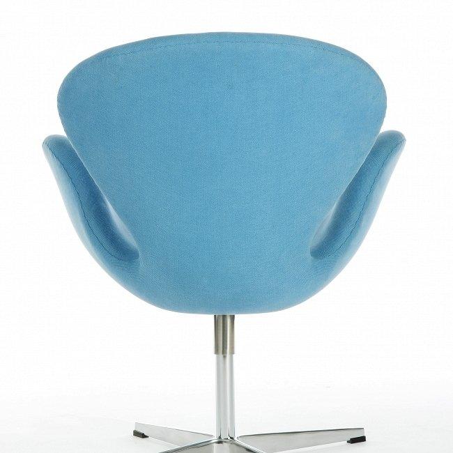 Кресло Swan голубого цвета