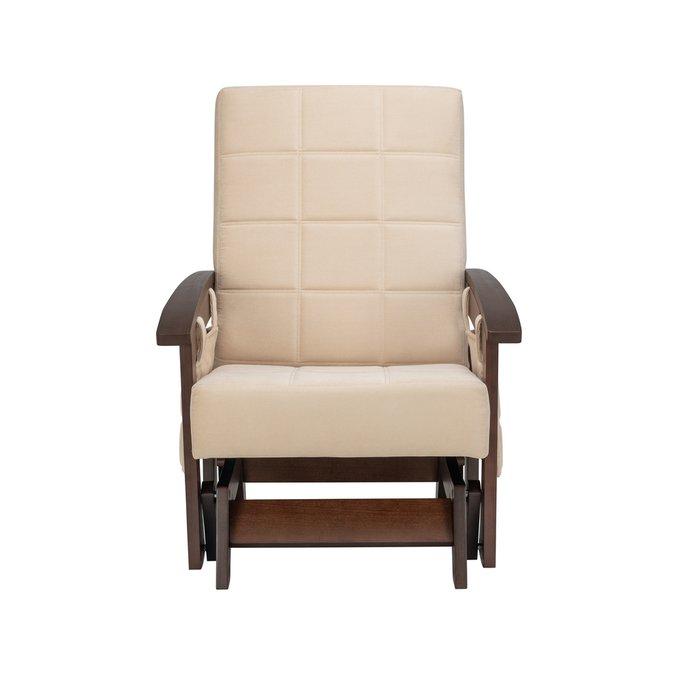 Кресло-качалка глайдер Нордик с деревянными подлокотниками
