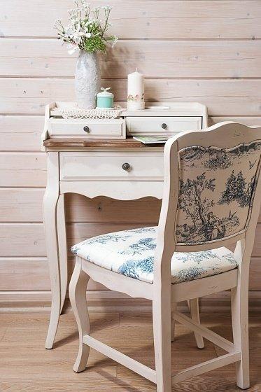 Стол бюро  белая карамель