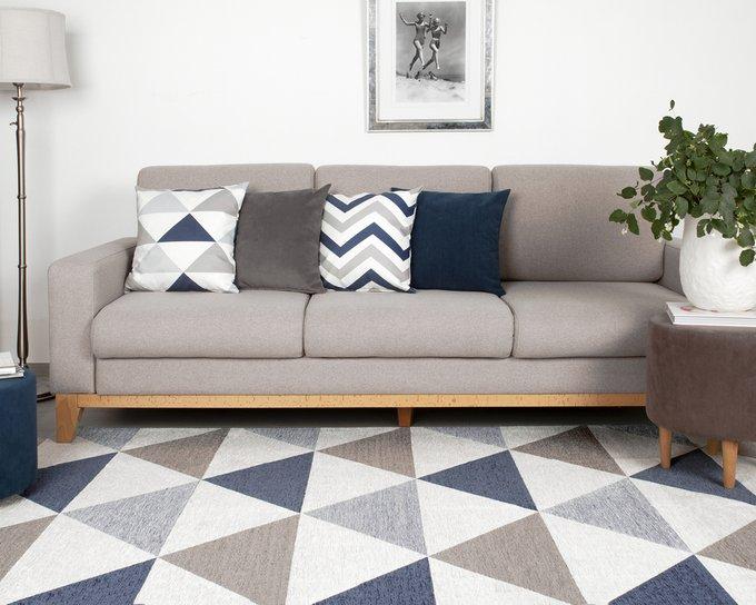 Декоративная подушка Olaf с геометричным принтом