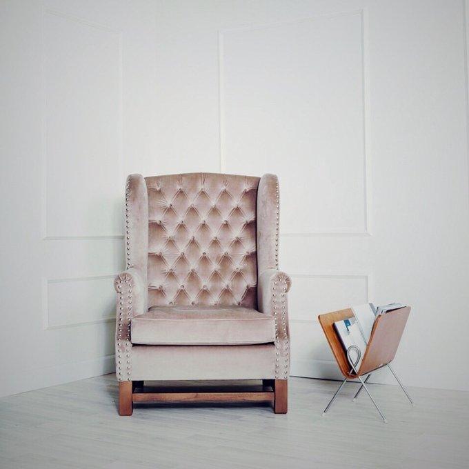 Кресло Jerome серебряного цвета