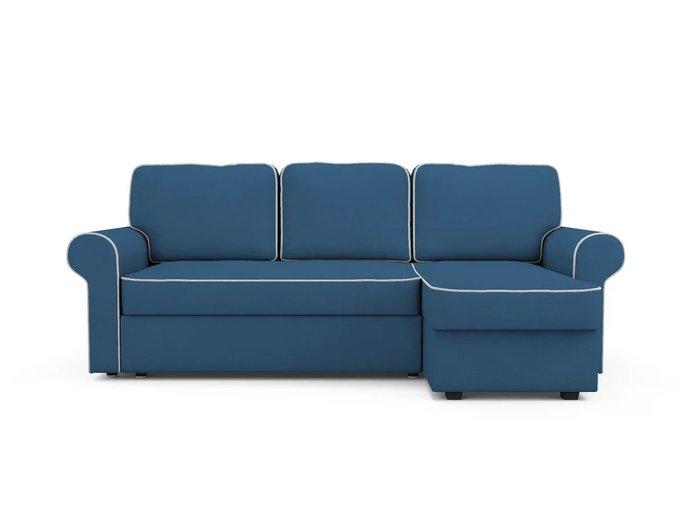 Угловой Диван-кровать Tulon правый синего цвета
