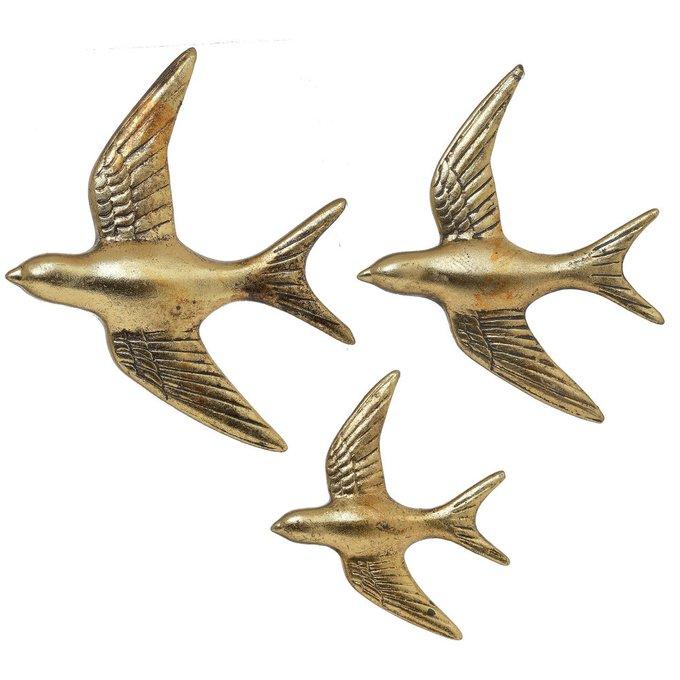 Набор из трех Птичек золотого цвета