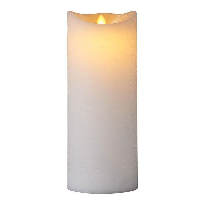 Светодиодная свеча Sara белого цвета с таймером