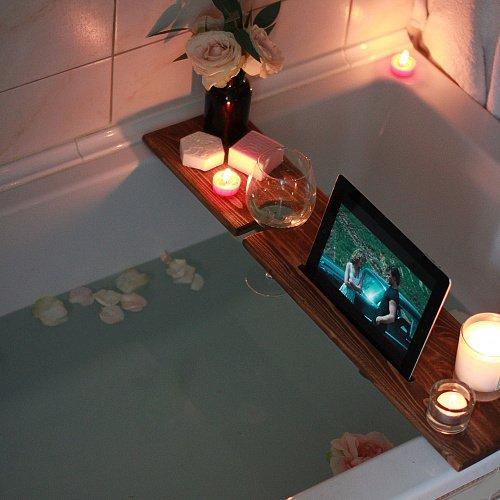 Полка подставка на ванну из дерева