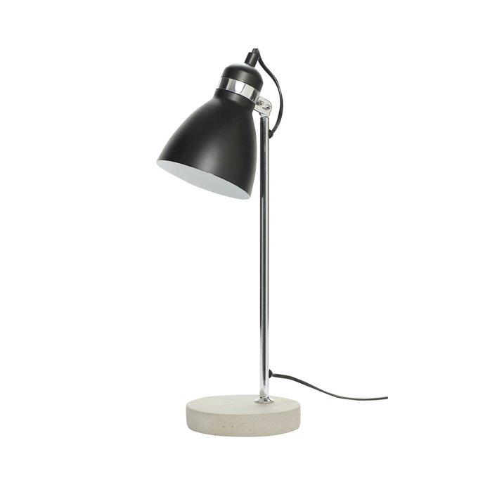 Настольная лампа с черным плафоном