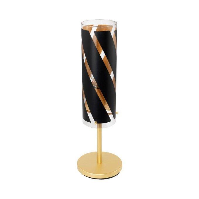 Настольная лампа Pinto Nero черно-золотого цвета
