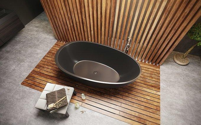 Каменная Ванна Spoon 2 Черная Графитовая