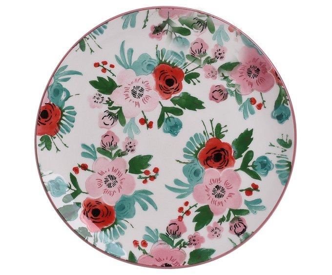 Блюдо с цветочным принтом