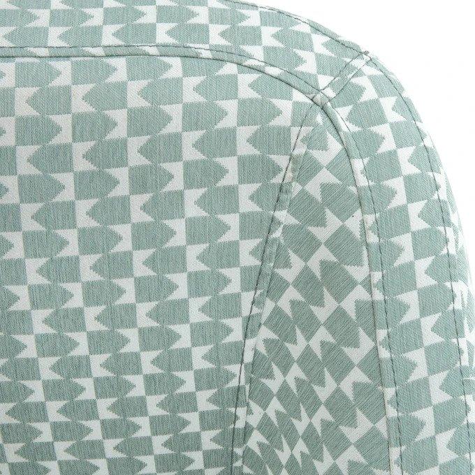 Прямой диван трехместный Smon бело-голубого цвета