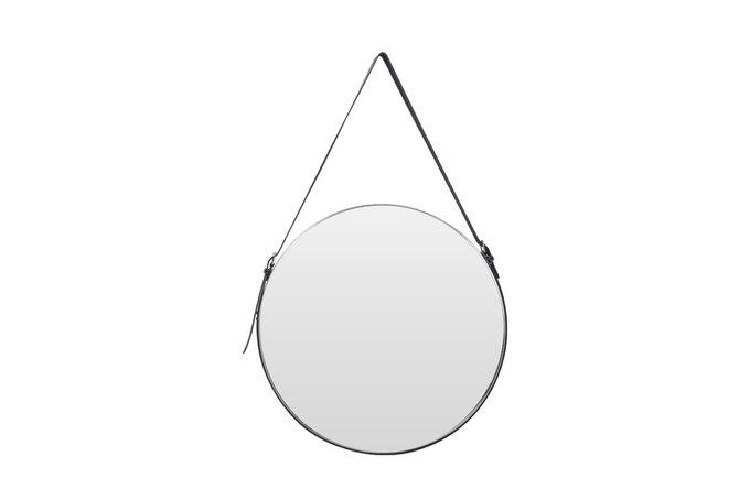 Настенное круглое зеркало на подвесе