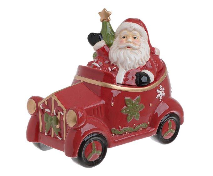 Керамическая банка с крышкой Санта Клаус