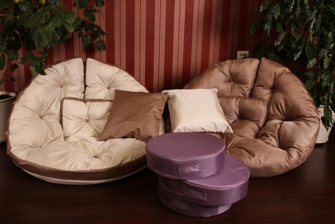 Набор из трех подушек на пол lupin