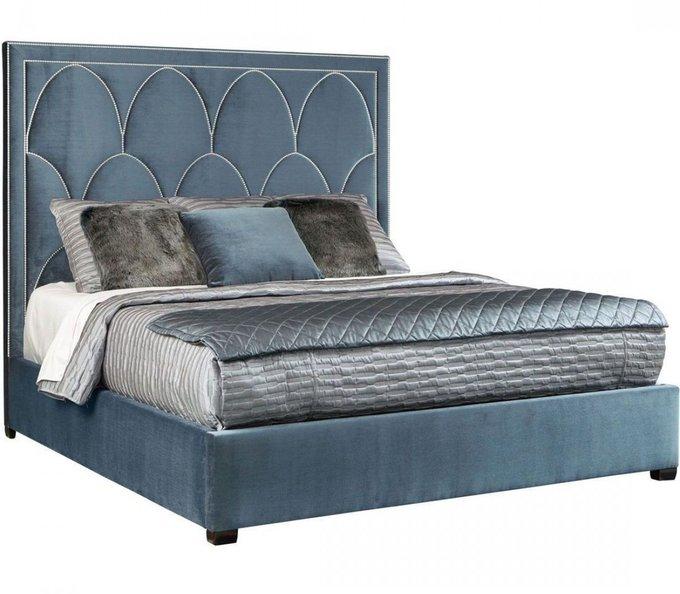 Кровать Petals Queen синего цвета 160х200