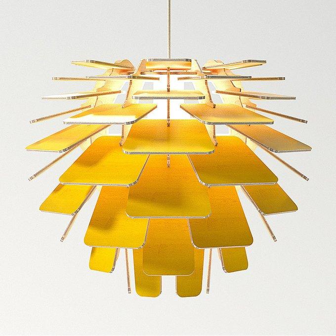 Подвесной светильник Squama Artichoke желтый