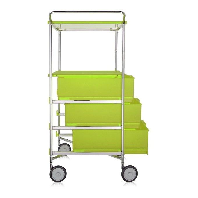 Комод Mobil светло-зеленого цвета на колесиках
