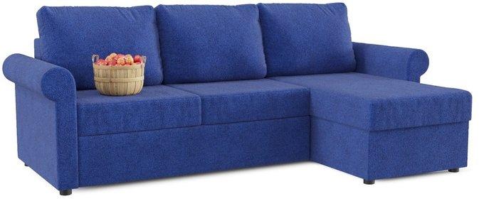 Угловой диван-кровать Верона синего цвета