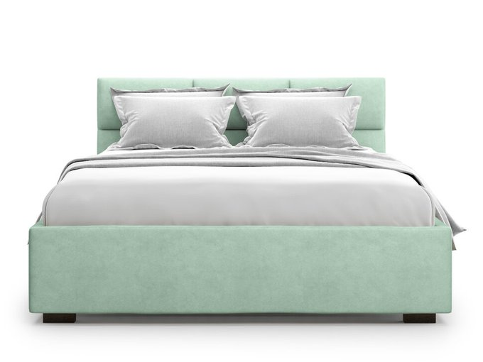 Кровать Bolsena 160х200 бирюзового цвета с подъемным механизмом