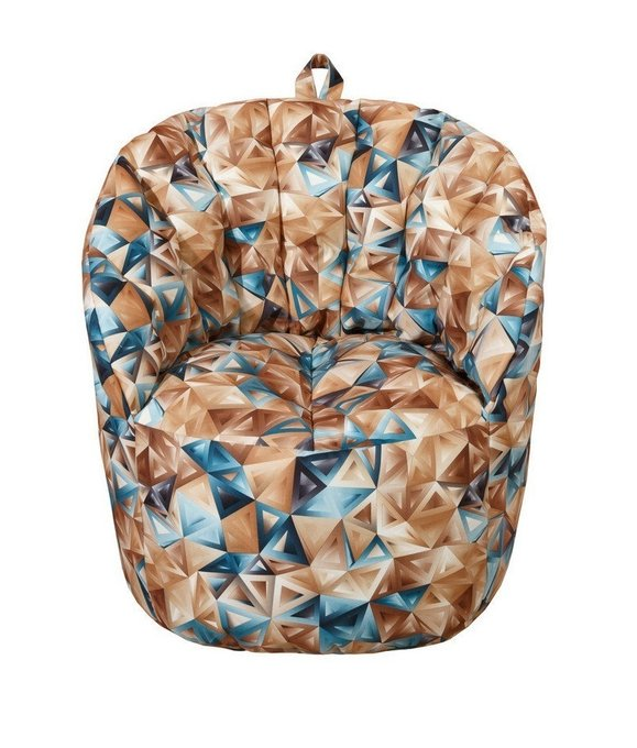 Кресло-пуф коричневого цвета