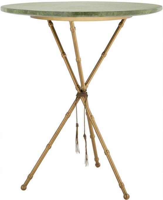 Кофейный столик из металла и керамики