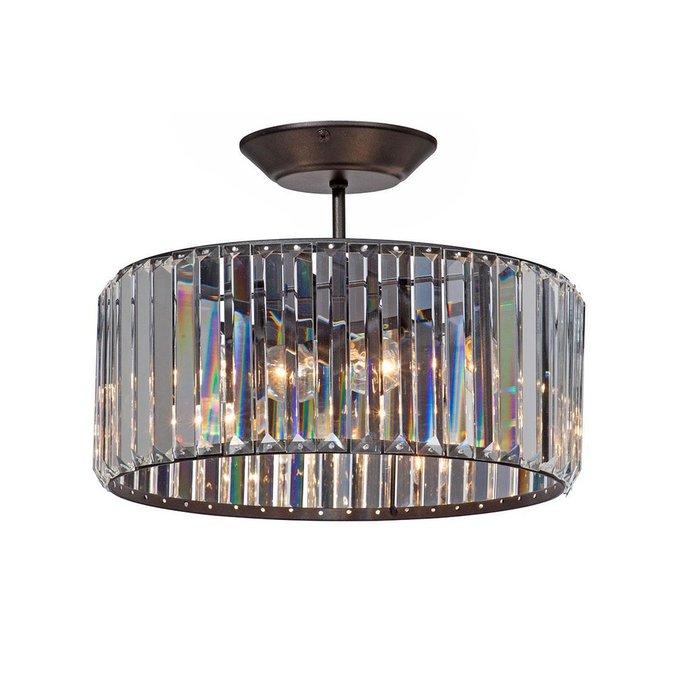Потолочная люстра из металла и стекла