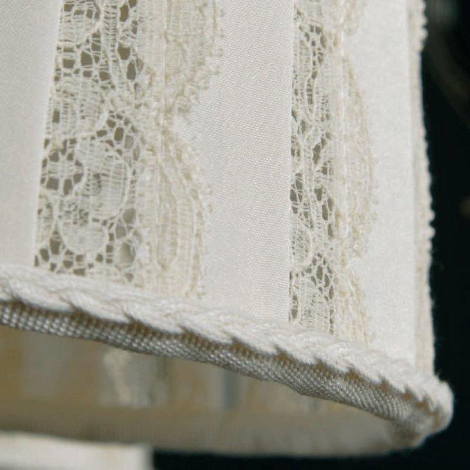 Торшер Jago белого цвета с ажурными вставками