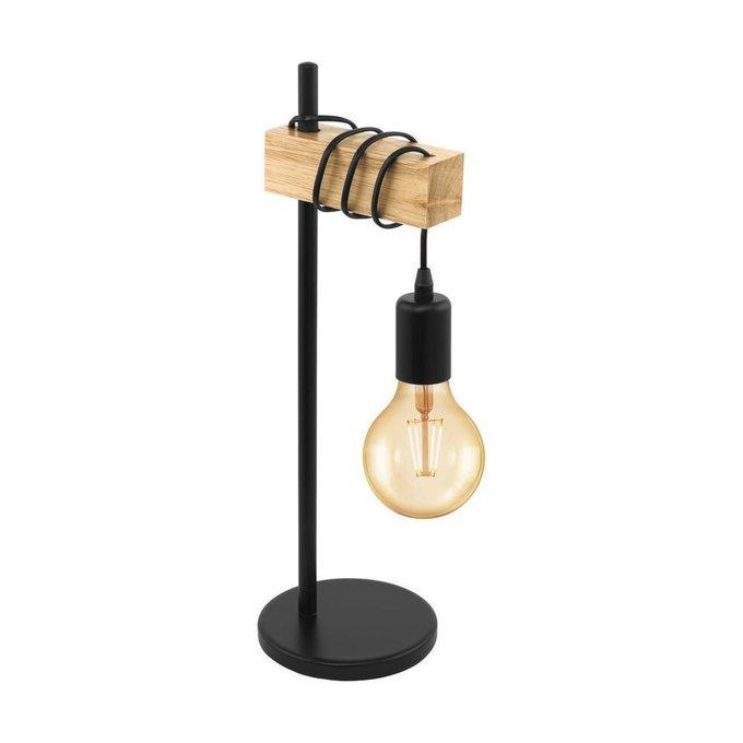 Настольная лампа Townshend из металла и дерева
