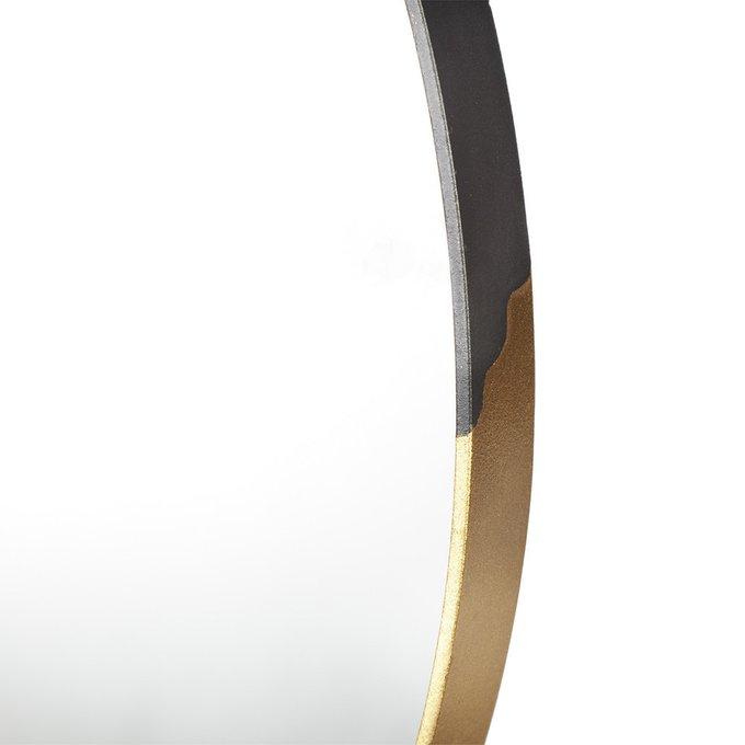Зеркало настенное Орбита М в черно-золотой раме