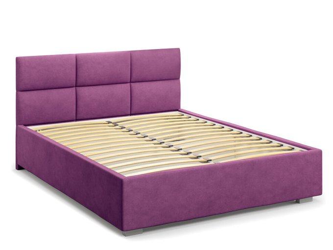 Кровать Bolsena без подъемного механизма 180х200 фиолетового цвета