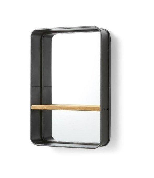 Настенное зеркало Julia Grup Cellini с деревянной полкой