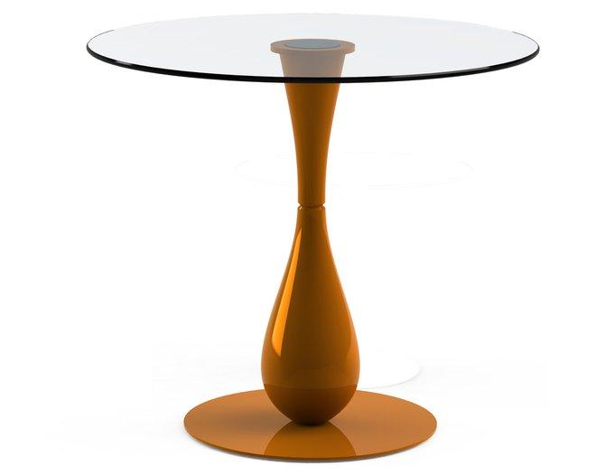 """Обеденный стол """"FLOS Orange"""" с круглой столешницей из закаленного стекла"""